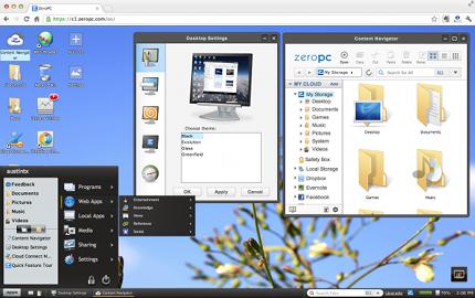 ZeroPC — настоящая онлайновая операционная система