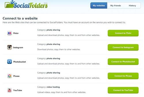 Social Folders — резервное копирование и синхронизация данных из Facebook, Flickr, Google Docs