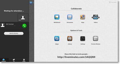 LiveMinutes —сервис для совместного редактирования документов, рисунков, карт