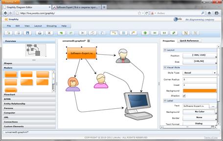Graphity Diagram Editor – онлайновый редактор диаграмм