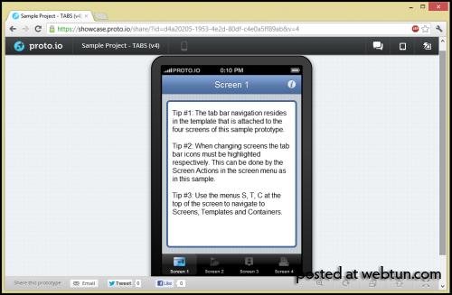 Proto.io — сервис создания интерактивных прототипов приложений для мобильных устройств