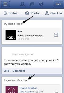 Facebook будет внедрять рекламу в сторонние приложения