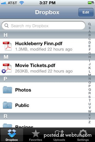 Dropbox 1.5.5 для iOS получил интеграцию с Facebook и Twitter