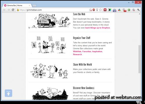 Gimme Bar — сервис для сохранения контента в облаке