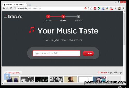 Tastebuds — сервис знакомств на основе музыкальных вкусов
