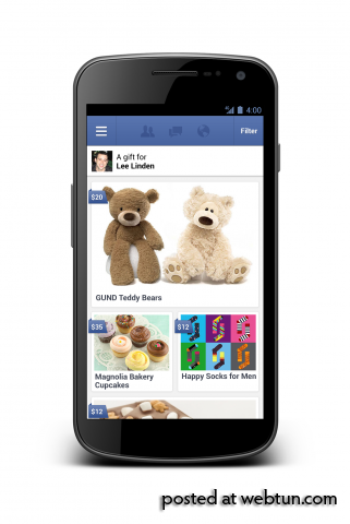 В Facebook теперь можно дарить настоящие подарки
