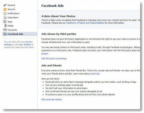 Как убрать своё имя из социальной рекламы на Facebook