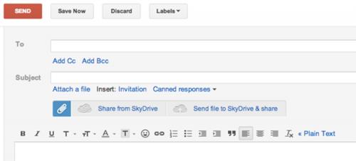 ������� ��� Chrome � Firefox ��������� �������� � �������� SkyDrive � ����� Gmail