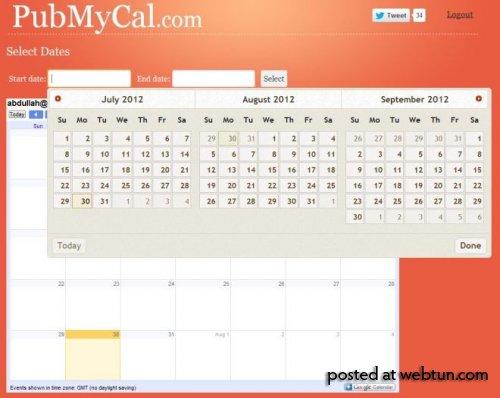 PubMyCal: вести и делиться своим Google Calendar можно при помощи одного клика!