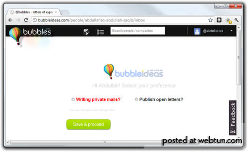 Bubbles: создавайте, редактируйте и делитесь своими мыслями при помощи персонализированных писем