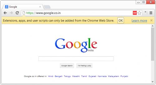 ��� ���������� � Chrome ���������� �� �� Web Store