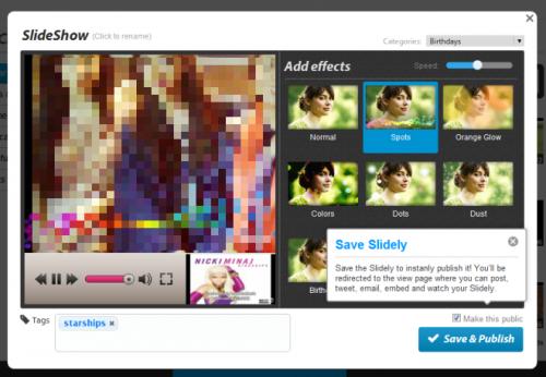 Slide.ly: создавайте слайд-шоу, используя фотографии и музыку со своих аккаунтов в популярных социальных сетях