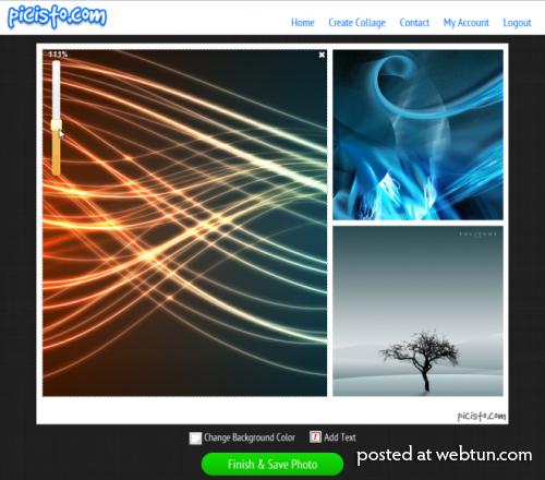 Picisto – бесплатный онлайн создатель коллажей с адаптируемыми шаблонами.