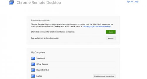 Google вывела сервис Chrome Remote Desktop из статуса бета-версии