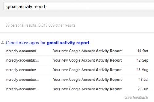 Результаты поиска вGmail инаДиске— вПоискеGoogle