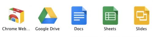 Документы, Таблицы, Слайды— короткие названия приложений дляДиска