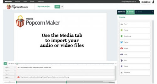 Mozilla запустила сервис создания интерактивных видеороликов Popcorn Maker 1.0