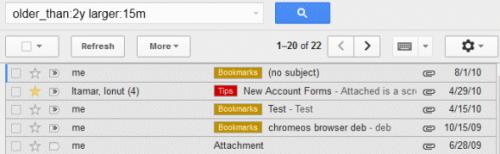 Новые операторы расширенного поиска вGmail