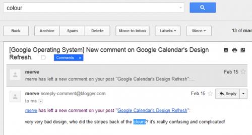 Gmail ищет однокоренные слова ислова сопечатками