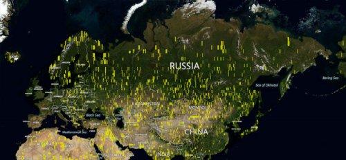 Microsoft добавил 121 терабайт спутниковых и аэро-снимков в Bing Maps