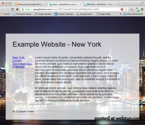 Google Drive теперь поддерживает публикацию веб-сайтов