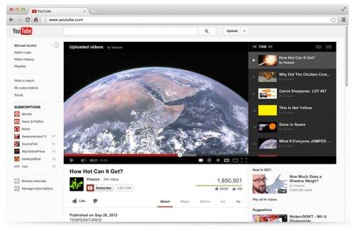 Google провела очередной редизайн своего видеосервиса YouTube