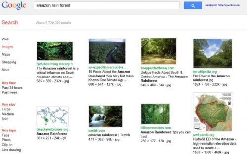 Переключение на упрощённый интерфейс поиска картинок