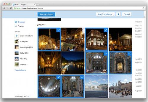 В Dropbox улучшен общий доступ к фотографиям и добавлена функция предварительного просмотра документов