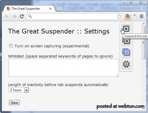 The Great Suspender - выгружает неиспользуемые закладки в Chrome, освобождая оперативную памят