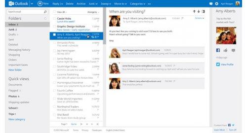 Outlook.com выходит из статуса превью-версии