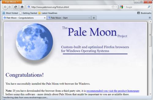 Pale Moon 19.0.1: производительный браузер на базе Firefox