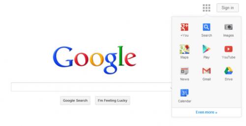 Google тестирует новый навигационный интерфейс