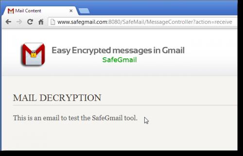 Отправка зашифрованных писем с помощью расширения для Chrome