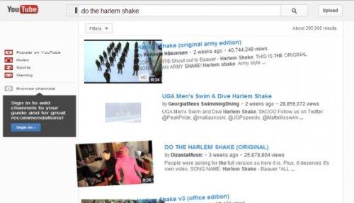 Harlem Shake — сюрприз в YouTube