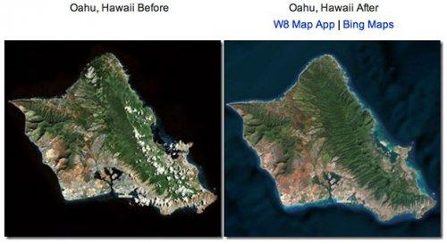 В обновленных Bing Maps появилось топографическое описание океанического дна