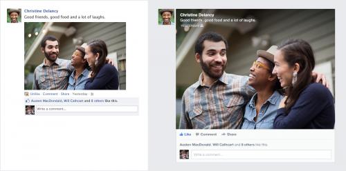Facebook показал новый дизайн ленты новостей