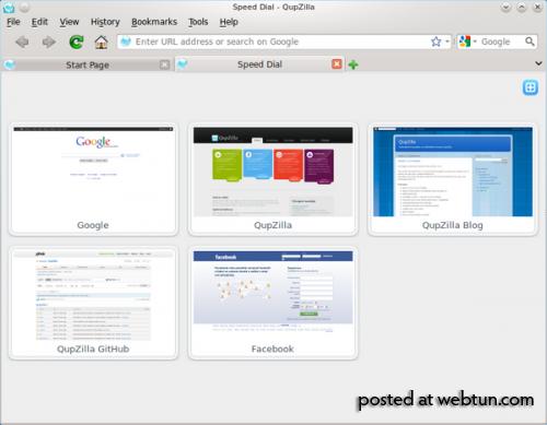 Релиз свободного web-браузера QupZilla 1.4.0, построенного на базе Qt и WebKit