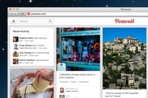 Pinterest представил новый дизайн с большим количеством «пинов»