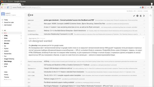 Юзерскрипт для улучшения интерфейса Feedly в стиле Google Reader