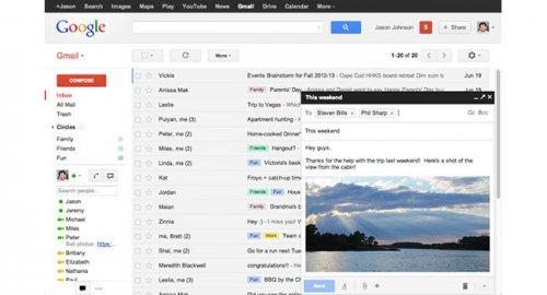 Всплывающее окно нового письма стало стандартом в интерфейсе Gmail