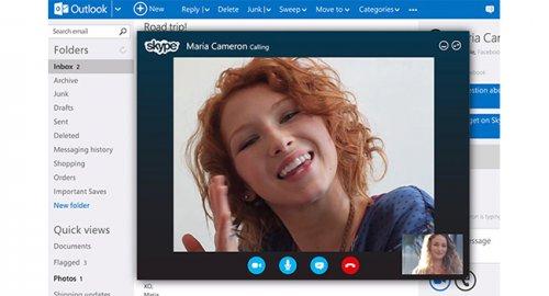 Microsoft внедрила поддержку Skype в сервис Outlook.com