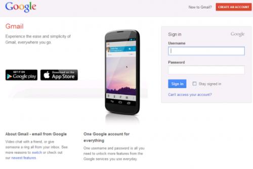 Gmail тестирует новую страницу авторизации