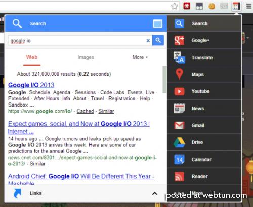 Расширение Black Menu — Меню для доступа ко всем службам Google одним кликом