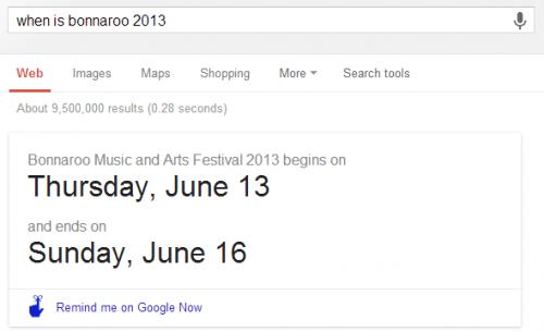 Создаём напоминания Google Now в Поиске