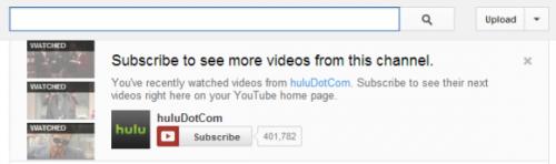 Оповещения обобновлениях назаданном канале YouTube