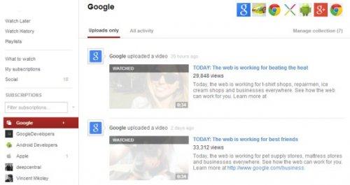 Коллекции YouTube