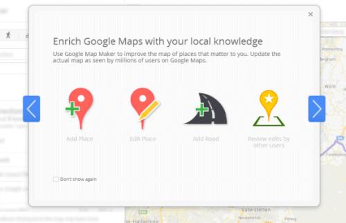 Google продвигает Картограф