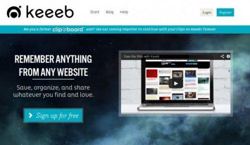 Keeeb — онлайновый альбом для цифровых вырезок