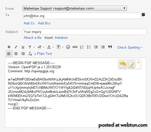 Mailvelope: применяем OpenPGP в веб-почте
