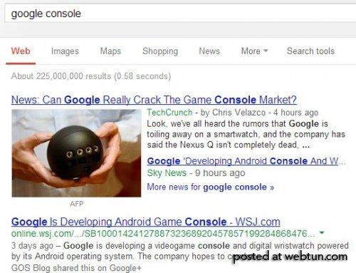 Инфоблок Новостей Google сбольшими эскизами